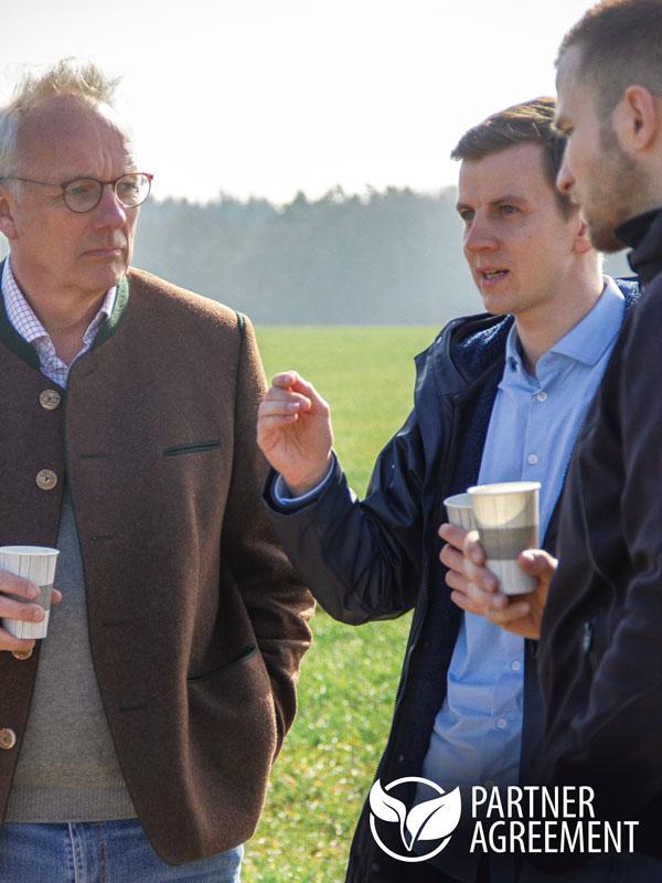 Im Gespräch Tim von Voss Energy und Herr Albrecht von Wilamowitz Moellendorf