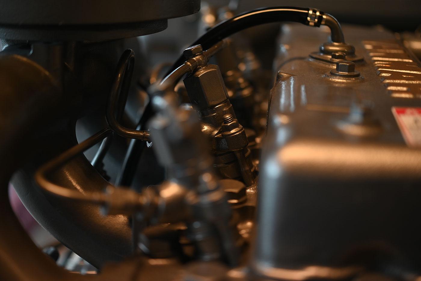 Nærbilde av motor