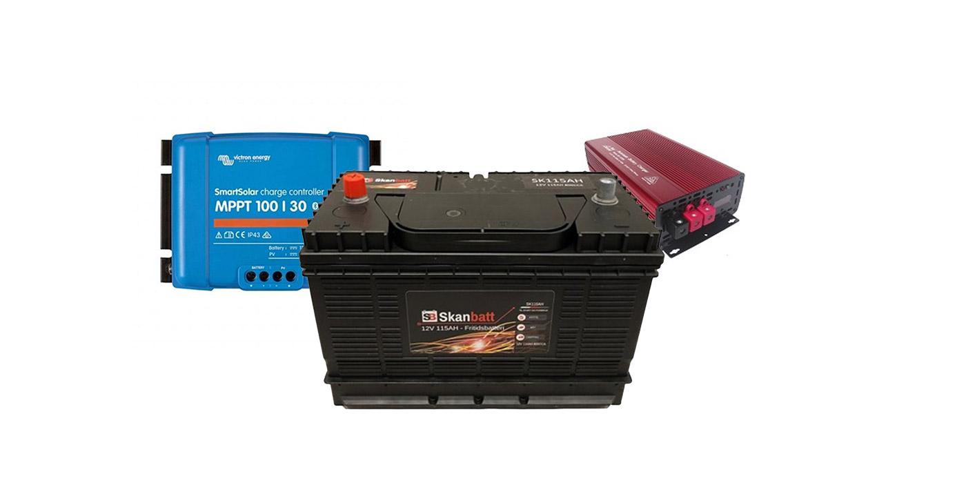 Batteri og solcelle
