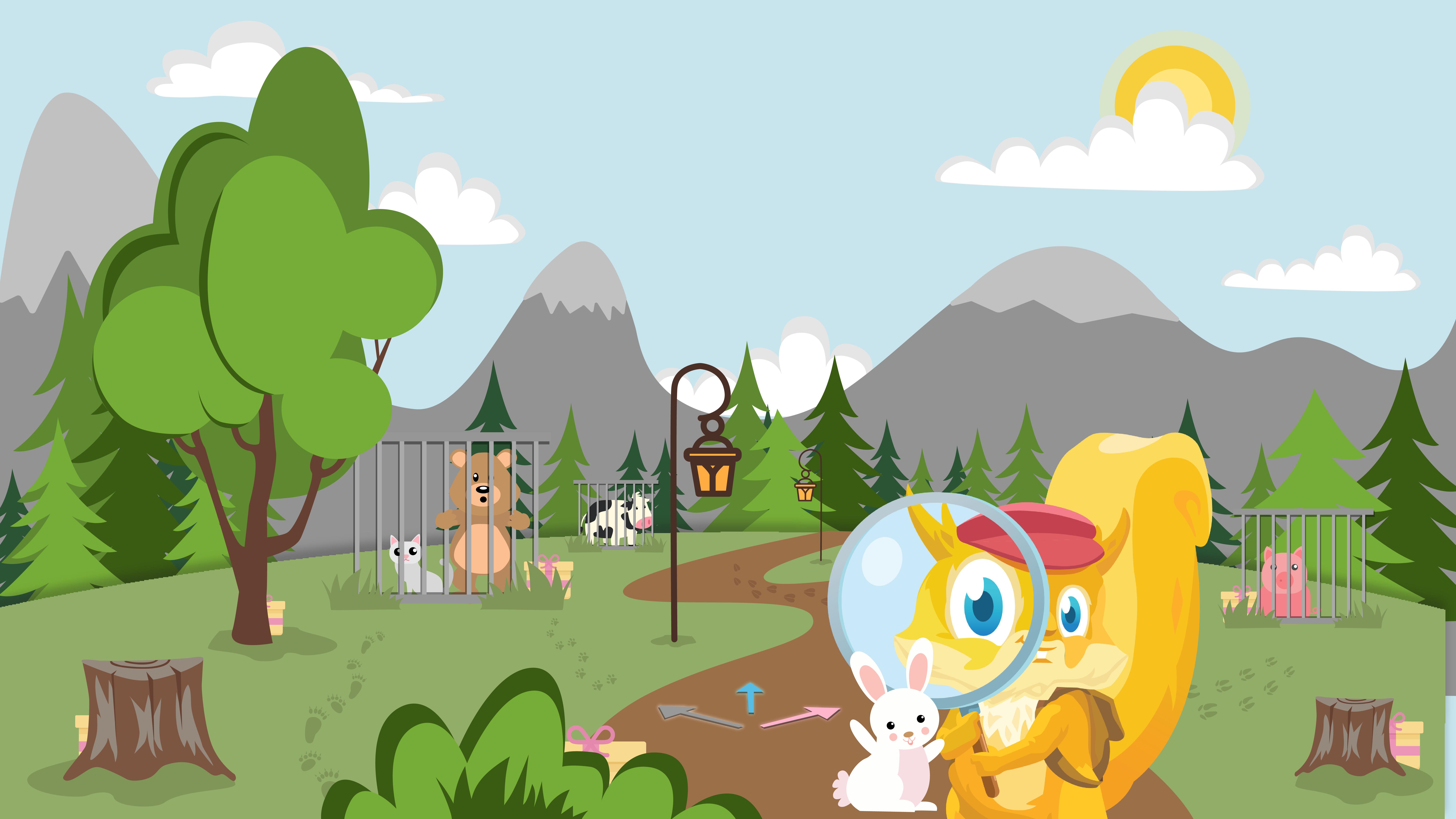 Illustration på TiHi i Treasurespelet i utomhusmiljö