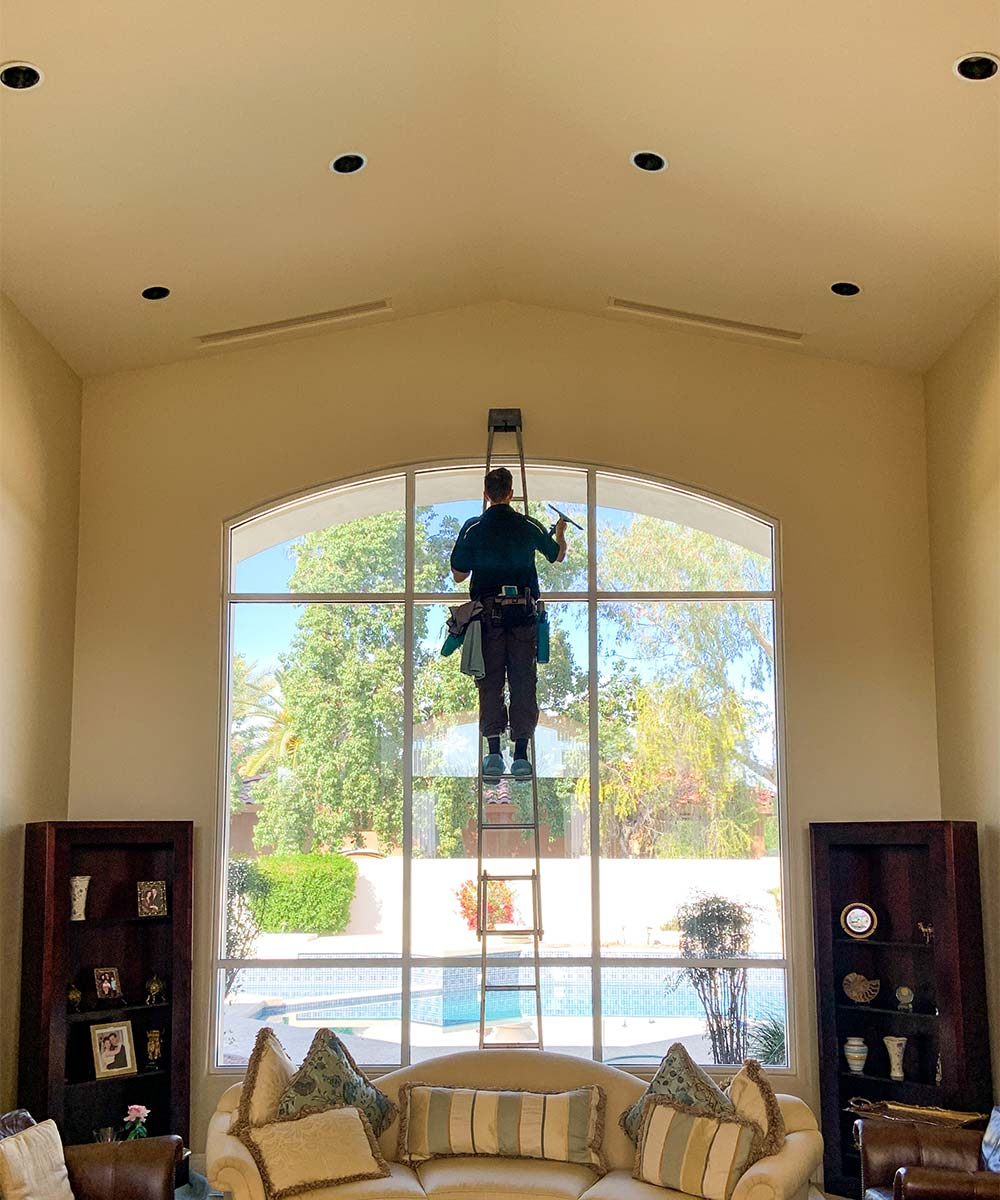Indoor window cleaning in Ahwatukee, AZ