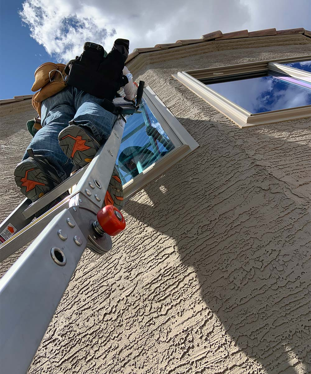 Window cleaning in progress in Ahwatukee