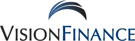 vision finance logo in blue