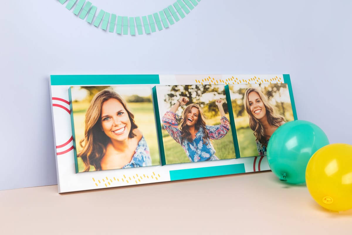 Image Block with 3 photos of senior graduate girl.
