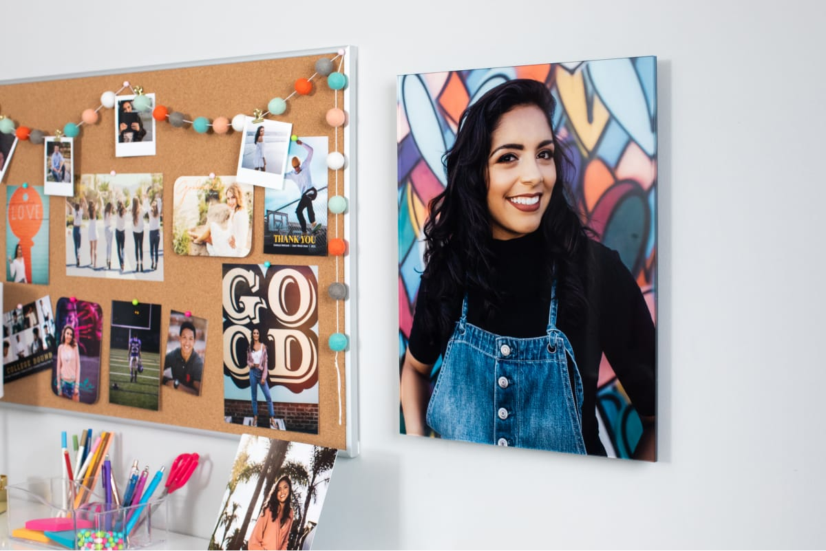Acrylic Print of Senior Graduate Girl hung on wall.