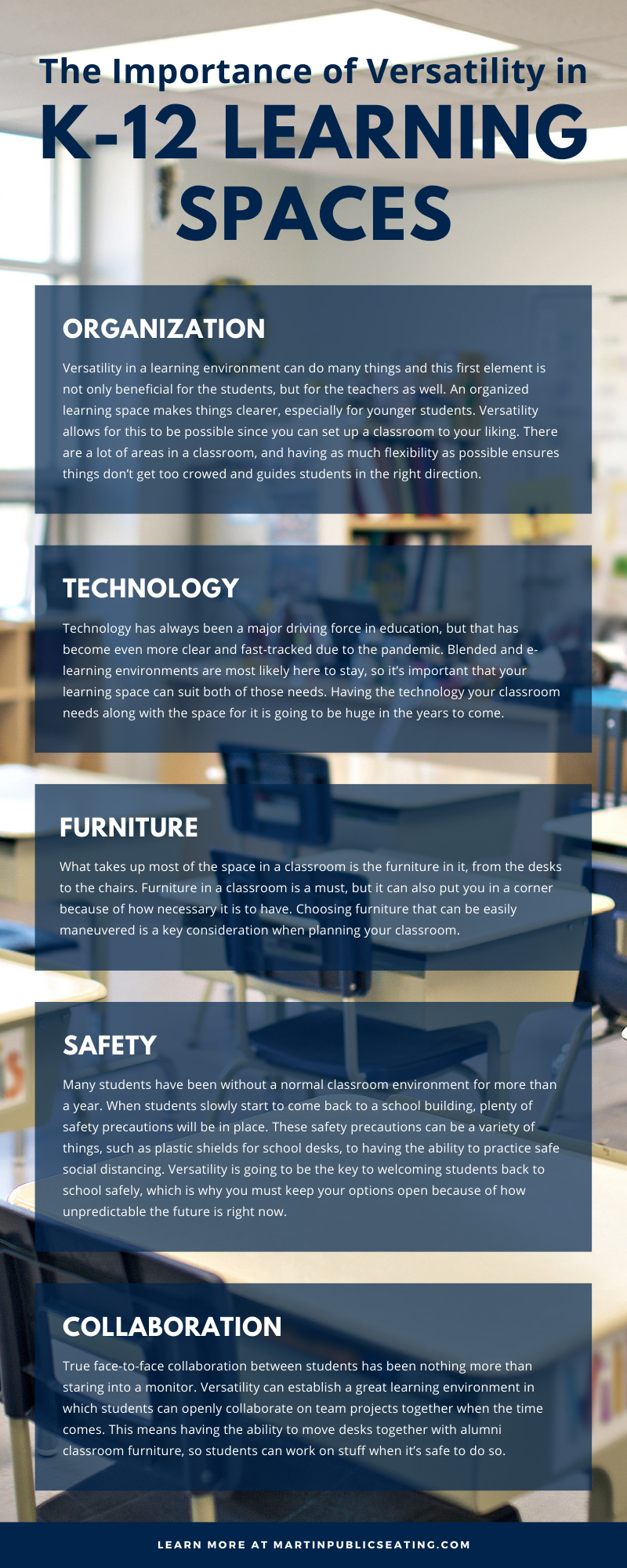 The Importance of Versatility in K-12 Learning Spaces