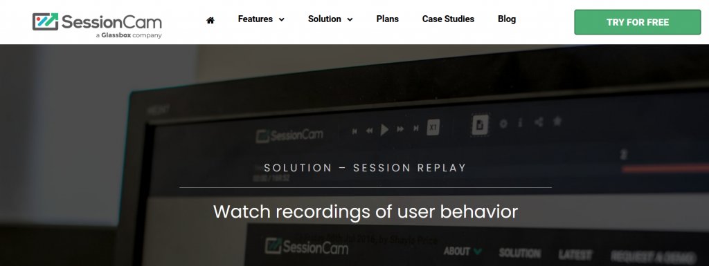 SessionCam Session Replay Tool