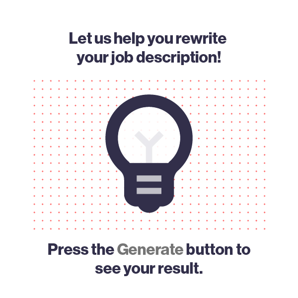 Press the generate button to generate a description, with a lightbulb graphic.