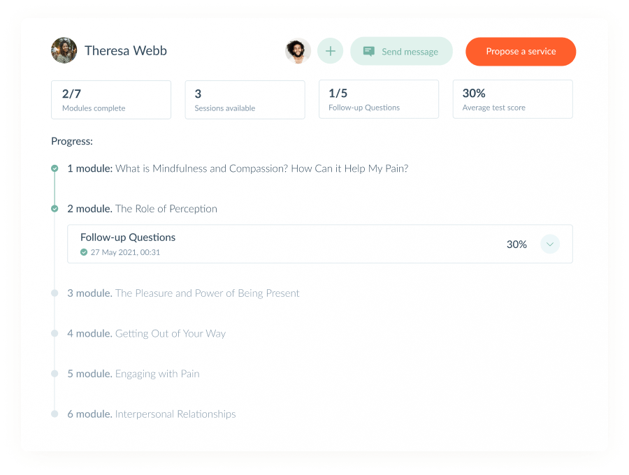 The platform helps keep track of customer billing, reporting and progress