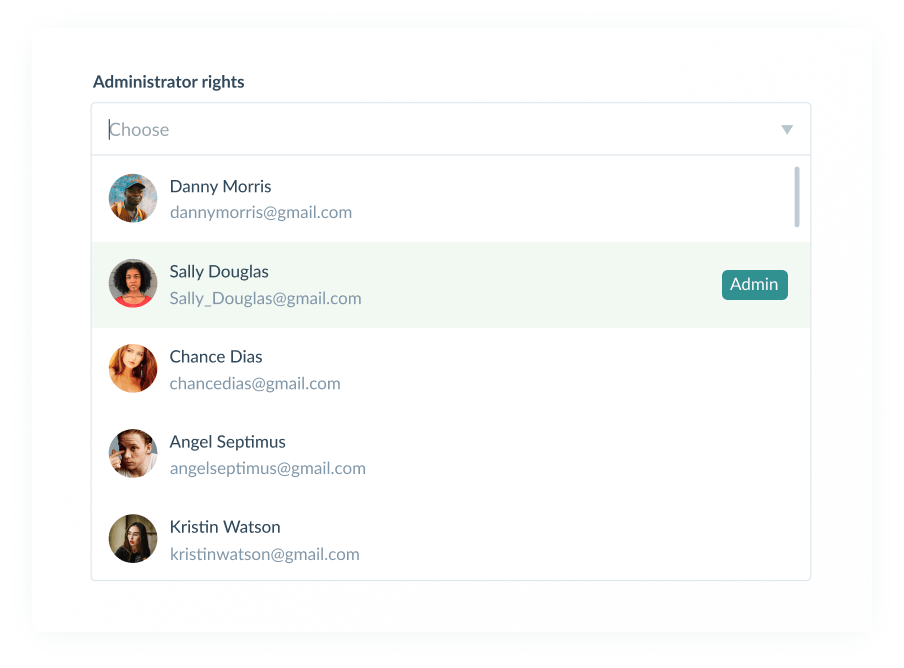 Managing your personal account on the platform