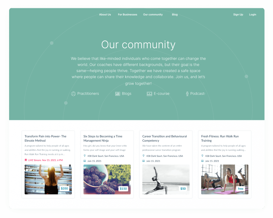 Community for professionals and trainers
