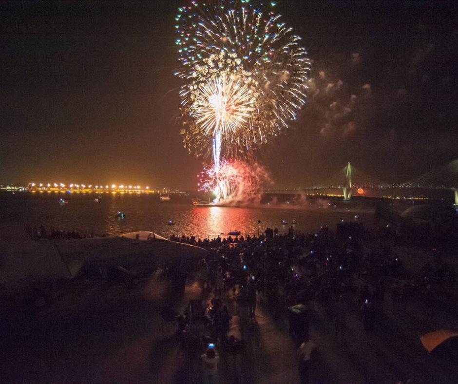 Fireworks at Patriots Point in Charleston