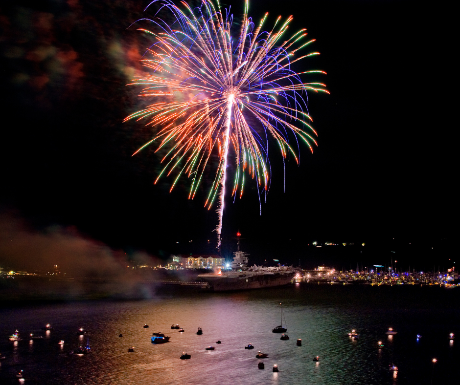Fireworks in the Charleston Harbor