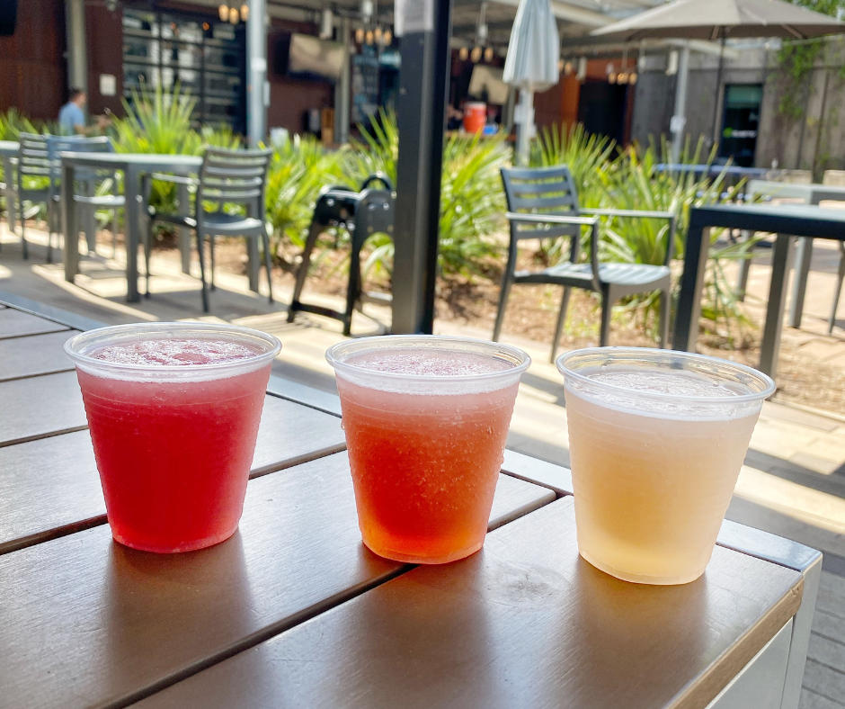 The Co-Op frose flight at Edmund's Oast Brewing