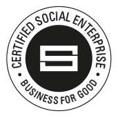 Certified social enterprise badge.