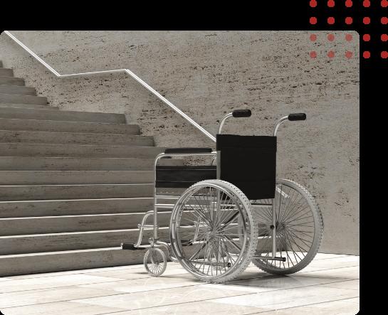 Wheel Chair Vs Stairs