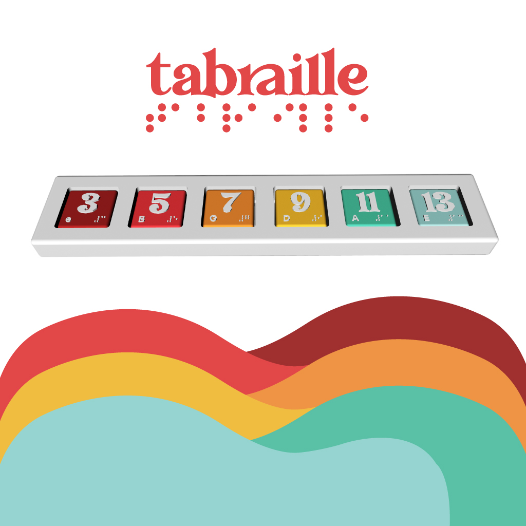 This deliverable completed for the Tabraille project was extremely important to the development process as this was my chance to bring my visualization of the product to life. From my design, I wanted the product to use a long board with six holes as the base for numbered/Braille tiles to fit in and read as a guitar tab. The tiles would feature a large textured surface in the shape of a number–this texture represents the string name, (for the student that is blind) and the number represents the fret. (for the sighted teacher) The tile also has braille in the bottom corner indicating the fret number to the student that is blind, and also has the string letter (E,A,D,G,B,e) in the other corner for the teacher to read. The product was developed to be useful to both the teacher and the student at the same time. A total of 138 individual tiles were created, as there are 23 fret multiplied by 6 string combinations. This model was widely used throughout the other deliverables as supportive imagery.