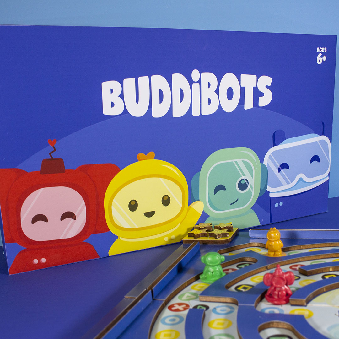 When researching emotional intelligence education for children, it was found that formal education methods were not effective. By conducting a survey it was revealed how most young adults recall learning about emotional intelligence through events in their childhood. Buddibots was made to create a fun and memorable environment where children will be able to learn about how to perceive, manage, facilitate and understand different emotions.