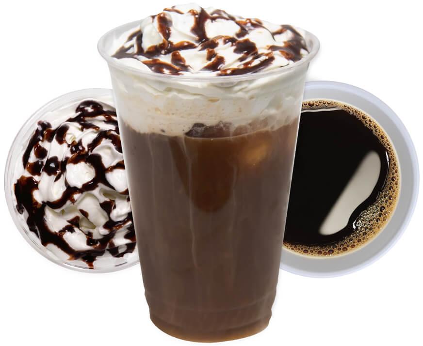 Coffee and sweet treats photo