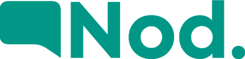 Nod Impact Growth Logo in green on a white background