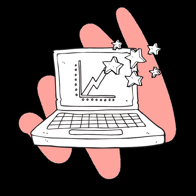 cartoon laptop