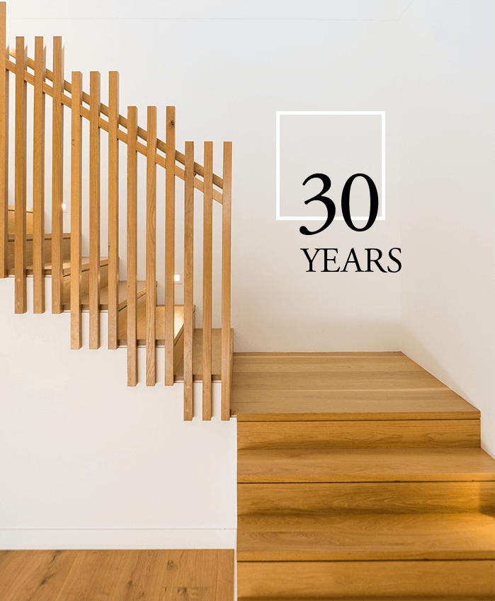 A new wooden staircase