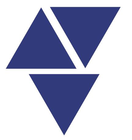grafisches Element, drei Dreiecke