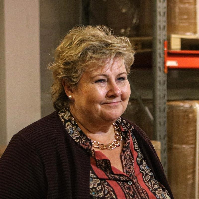 Statsminister Erna Solberg under den offisielle åpningen av InnoVern i Sykkylven.