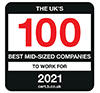 top 100 mid-sized employers Tritility
