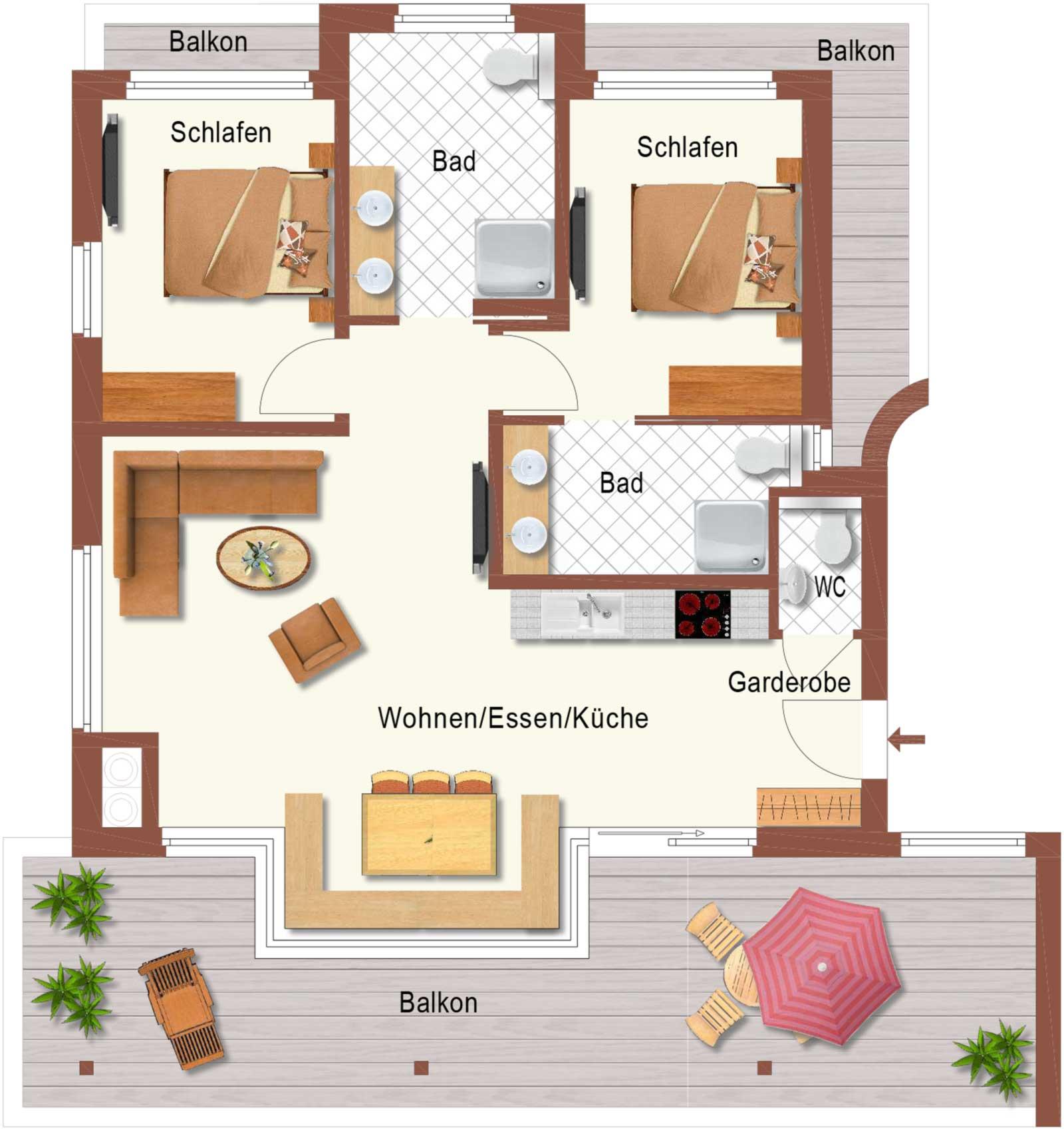 Auermühle Premium Penthouse Appartement – Grundriss