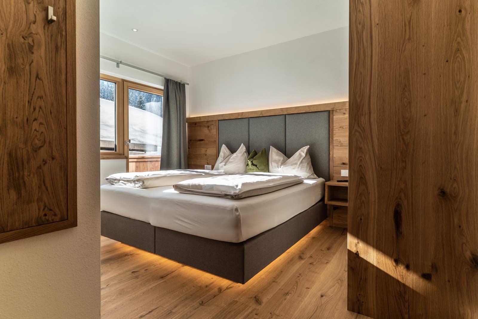 Auermühle Premium-Appartement – Schlafraum