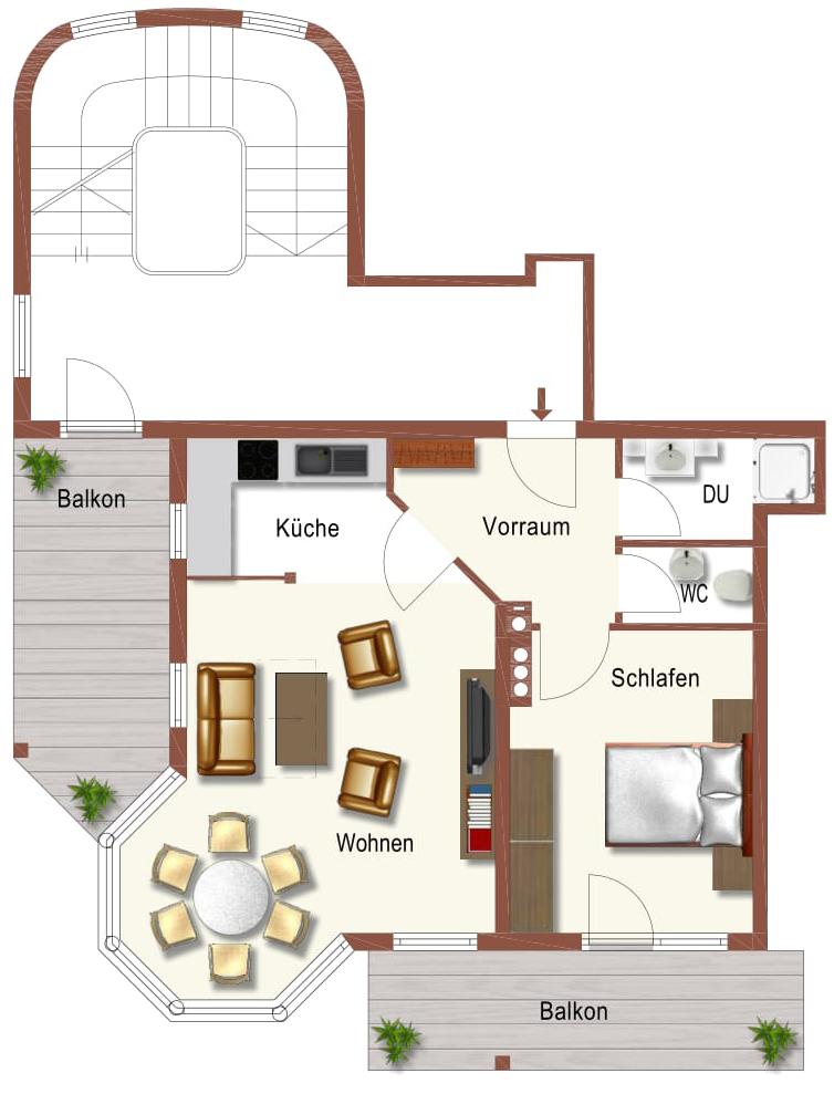 Auermühle Appartements – Grundriss