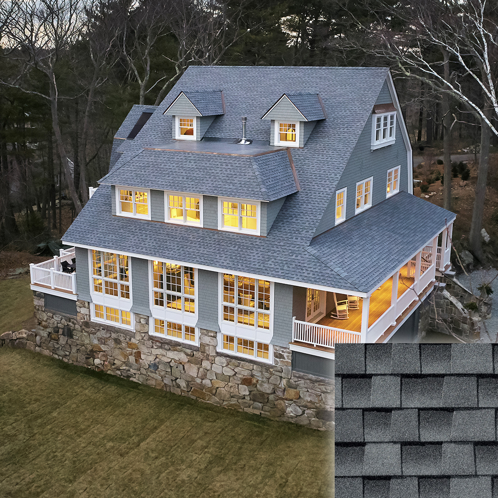oyster grey roof and shingle color