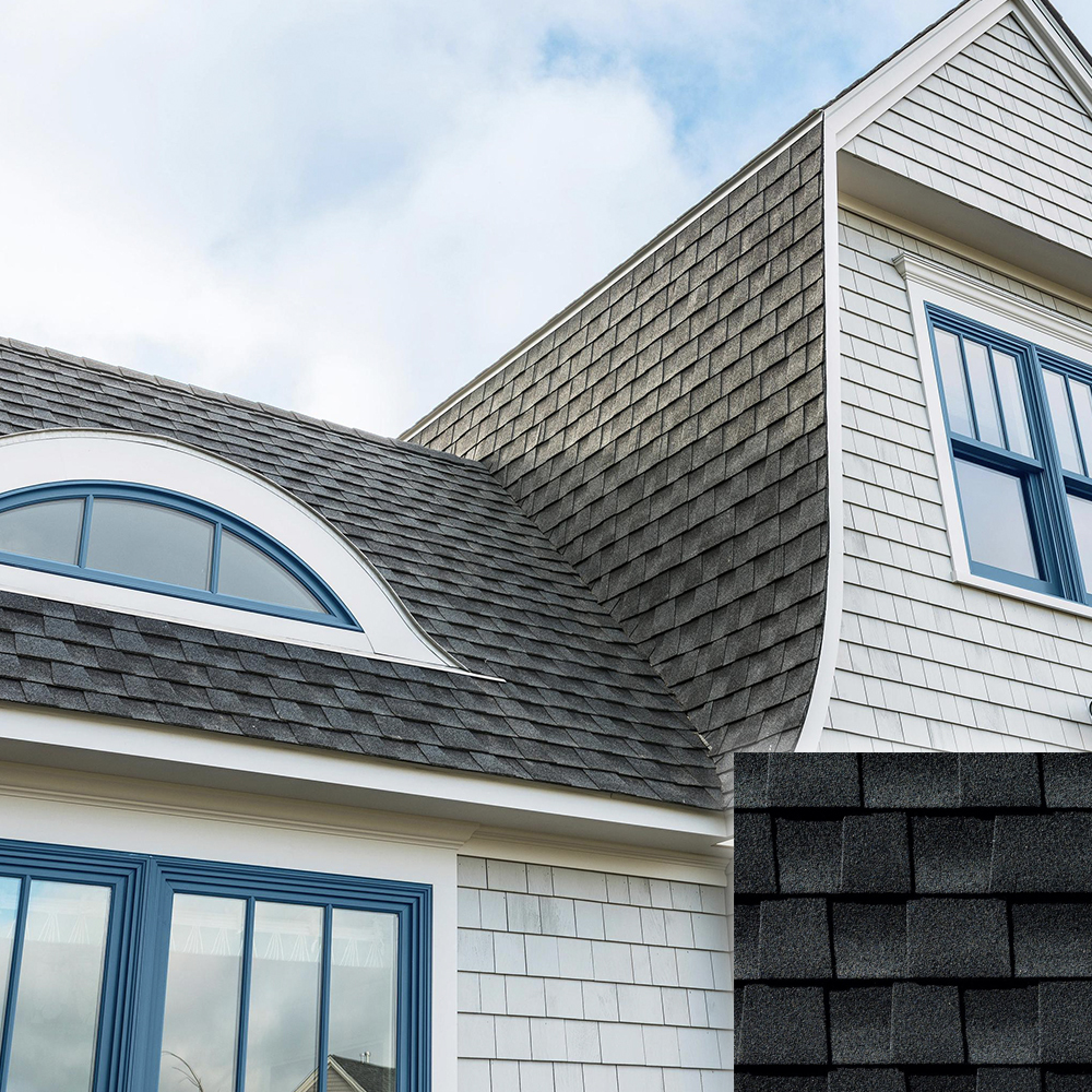 charcoal color roof and shingle