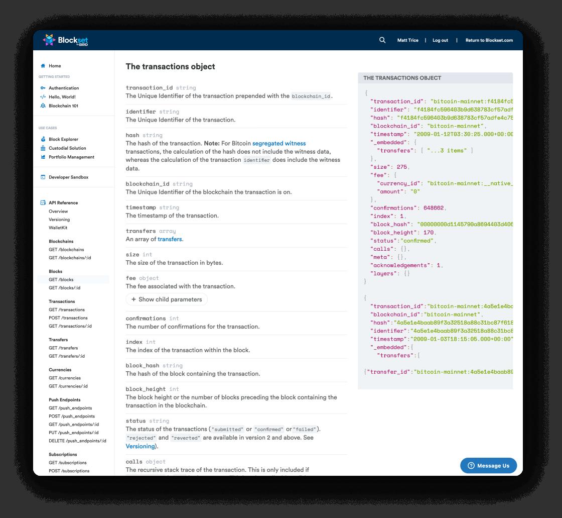 Blockset developers portal
