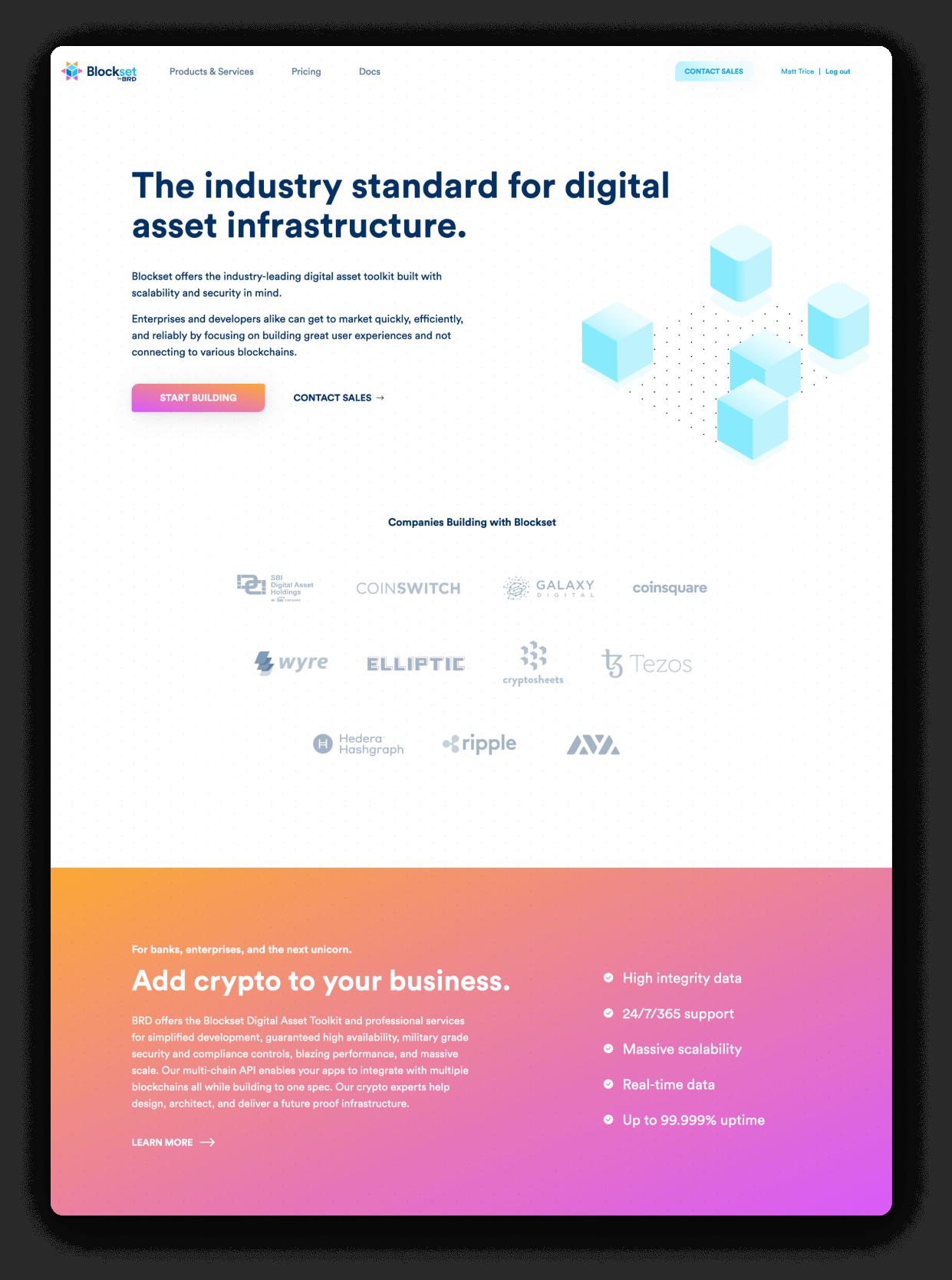 Blockset website home page