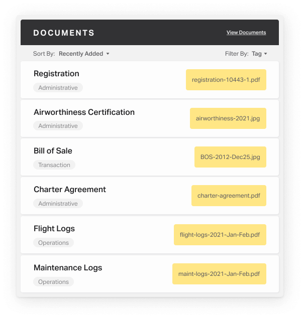 Volas user interface element