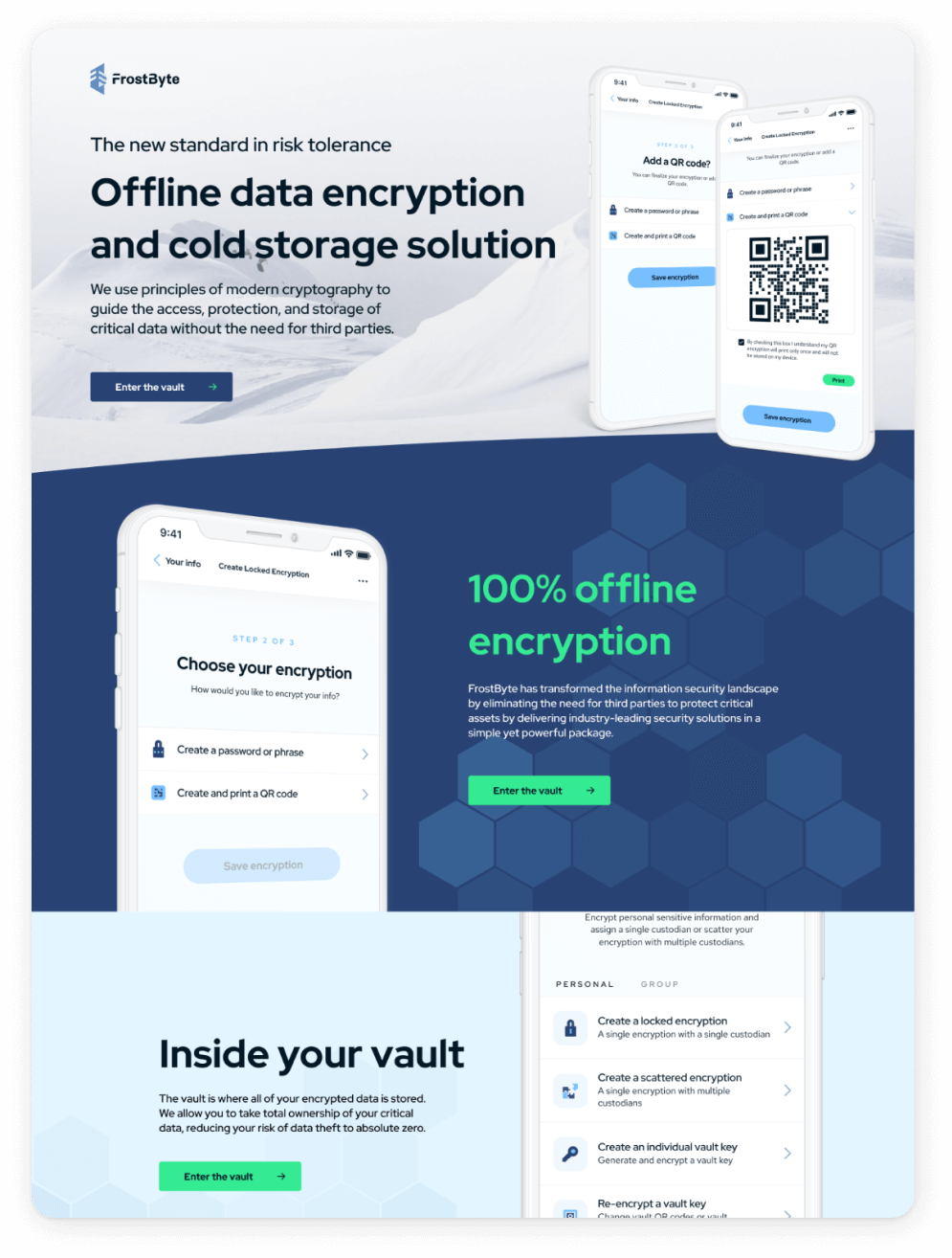 Home page of Frostbyte website