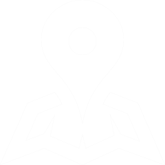 Location pin on a map icon