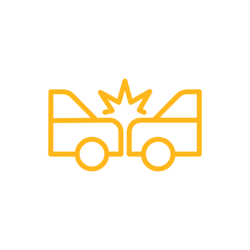 auto and truck accident icon