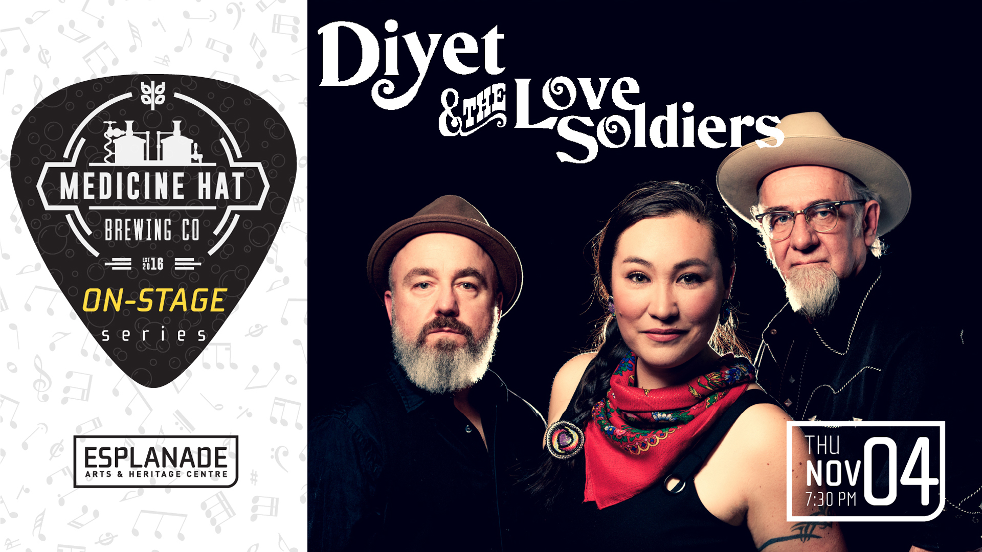 Medicine Hat Brewing Company On Stage Series: Diyet and the Love Soldiers