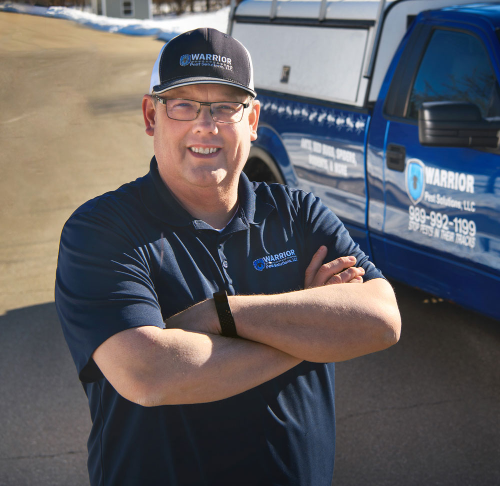 The owner of Warrior Pest Solutions.