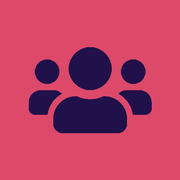 Digital avatar icon.
