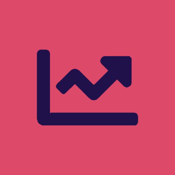 digital analytics icon.
