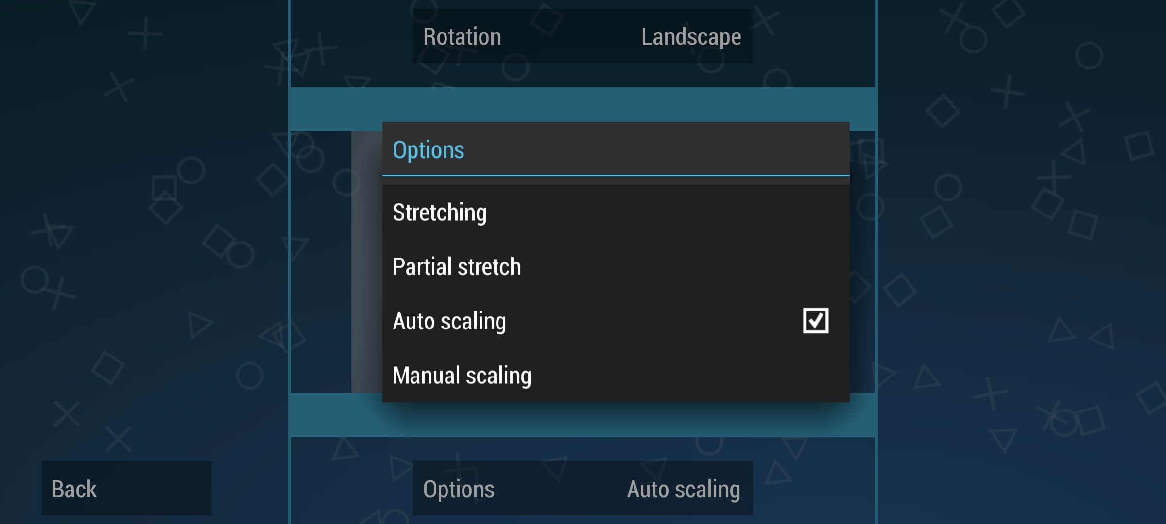 Change Display Layout editor to Stretching in PPSSPP