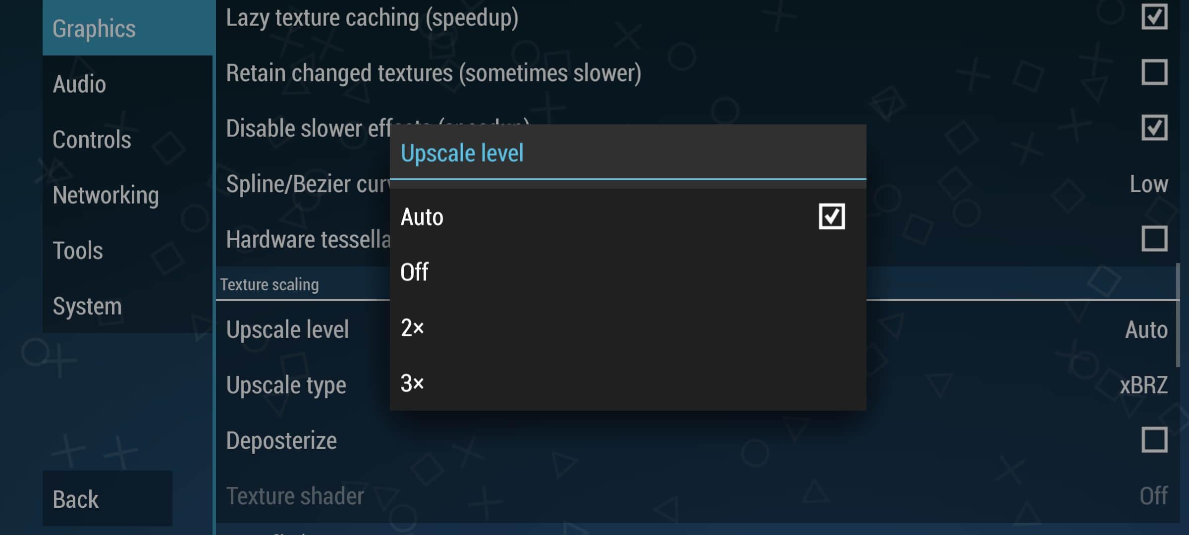 Set upscale level to auto