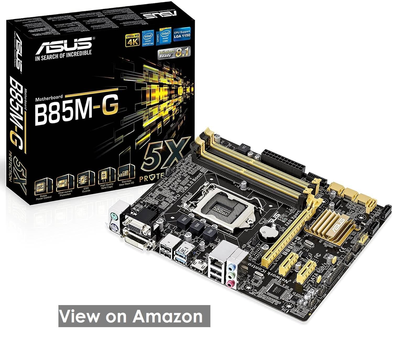Asus B85M-G- Best Affordable Mobo for i7 4790k
