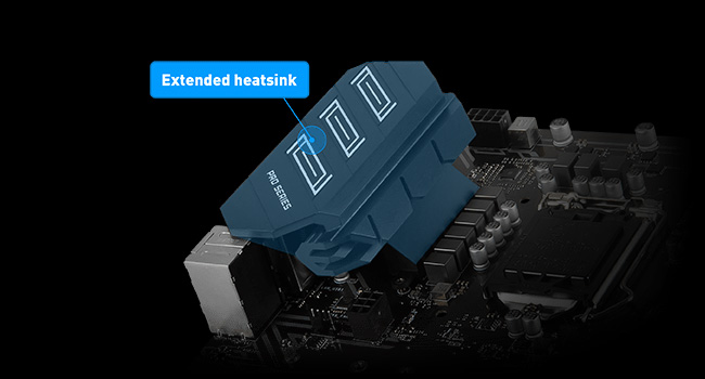 MSI Z390-a Pro Extended Heatsink