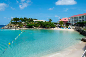 Swimming at Grand Case Beach Club