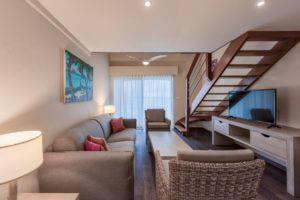 Studio Loft Ocean Living Area 01 | Grand Case Beach Club, St. Martin